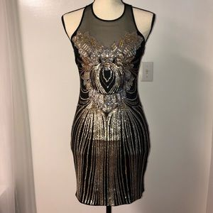 Short Sequin Dress (Bebe)